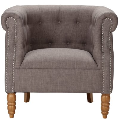 Blairview Tub Armchair Upholstery: Gray