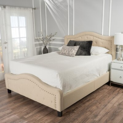 Willet Panel Bed Size: Cal-King, Color: Beige