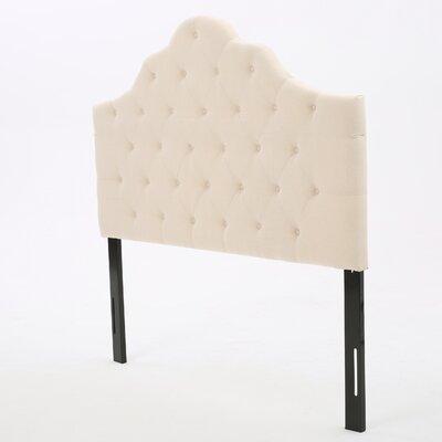 Harbert Queen Upholstered Panel Headboard Upholstery: Beige