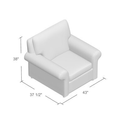 Bulfinch Arm Chair Body Fabric: Grande Pewter