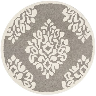 Manorville Hand Woven Wool Mushroom Area Rug Rug Size: Round 4