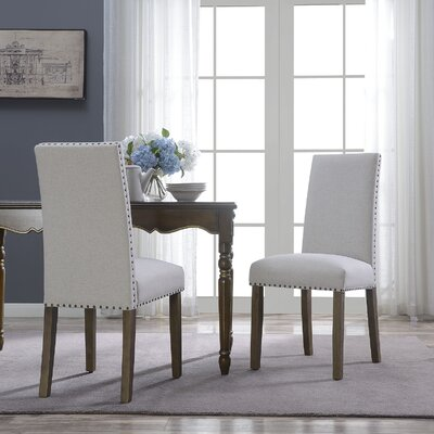 Trefethen Classic Parson Dining Chair Upholstery Color: Beige