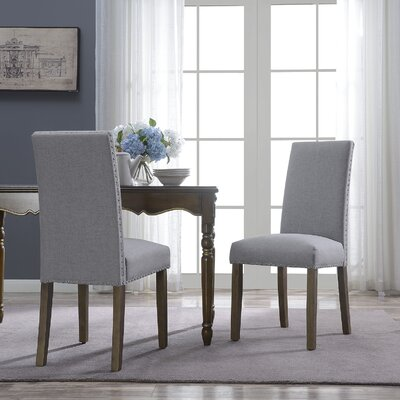 Trefethen Classic Parson Dining Chair Upholstery Color: Gray