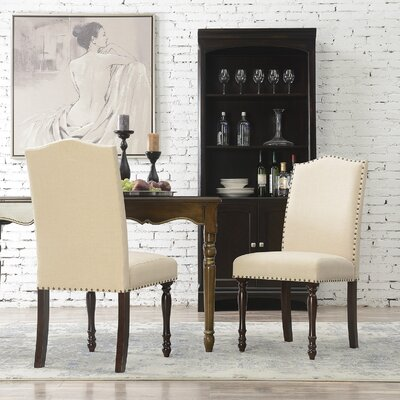 Rexroad Classic Parson Upholstered Dining Chair Upholstery Color: Beige