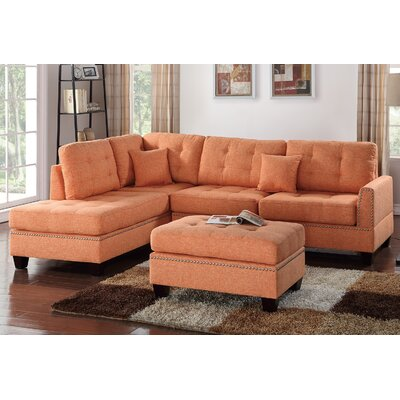 Romulus Sectional with Ottoman Upholstery: Citrus