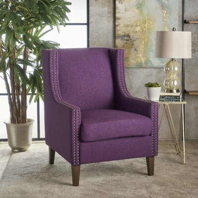 Westhoughton Armchair Upholstery: Purple