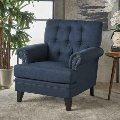 Elliott Bay Armchair Upholstery: Navy Blue