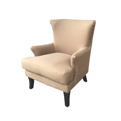 Ballimamore Mid Century Modern Wingback Chair Upholstery: Butter Rum