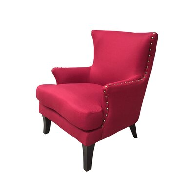 Ballimamore Mid Century Modern Wingback Chair Upholstery: Grenadine