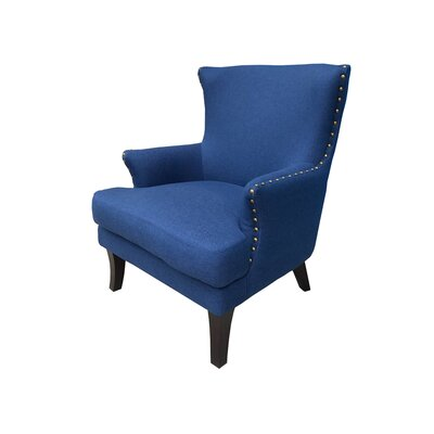 Ballimamore Mid Century Modern Wingback Chair Upholstery: Navy