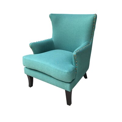 Ballimamore Mid Century Modern Wingback Chair Upholstery: Spruce