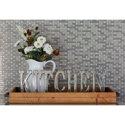 Silver  Kitchen Letter Block Size: 8