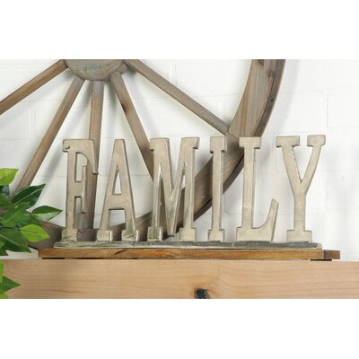Silver Family Letter Block Size: 8