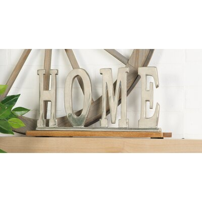 Silver Home Letter Block Size: 8