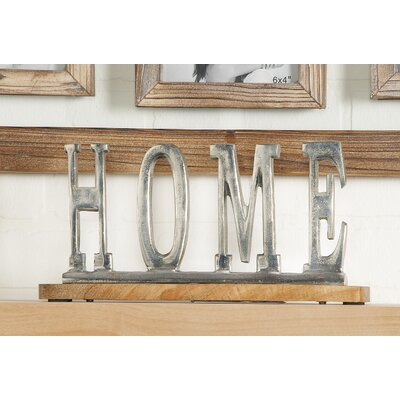 Silver Home Letter Block Size: 6