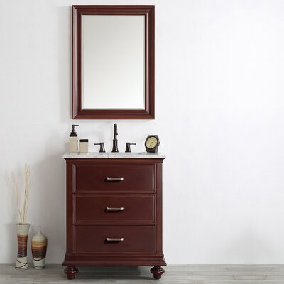 Vaughn 30 Single Vanity Set with Mirror Base Finish: Antique Cherry