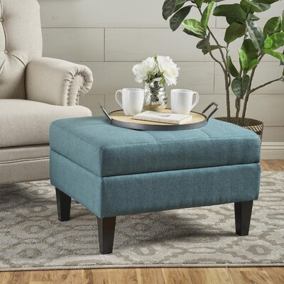 Thomasson Storage Ottoman Upholstery: Teal