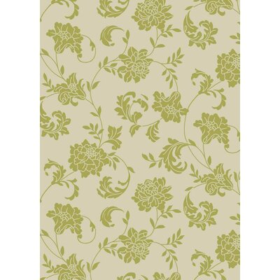 Sigel Light Green/Ivory Indoor/Outdoor Area Rug Rug Size: Rectangle 53 x 75