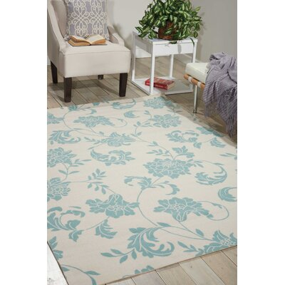 Sigel Blue/Ivory Indoor/Outdoor Area Rug Rug Size: Rectangle 10 x 13