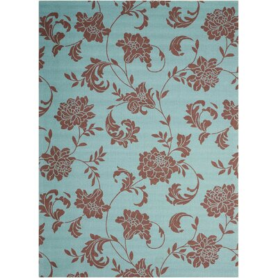 Sigel Light Blue/Brown Indoor/Outdoor Area Rug Rug Size: Rectangle 53 x 75