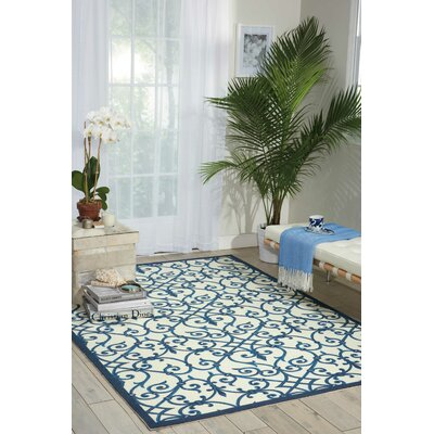 Sigel Blue/Beige Indoor/Outdoor Area Rug Rug Size: Rectangle 53 x 75