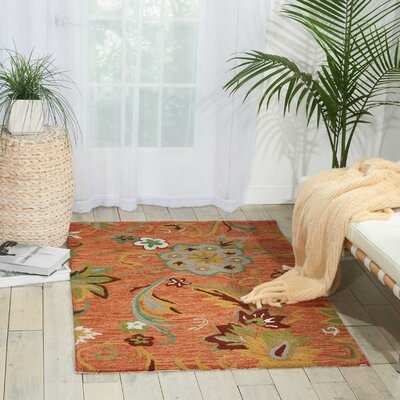 Sibley Orange/Green Area Rug