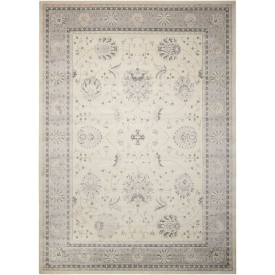 Lamarche Woven Ivory Area Rug Rug Size: Rectangle 710 x 1010