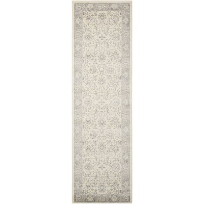 Lamarche Woven Ivory Area Rug Rug Size: Runner 22 x 76