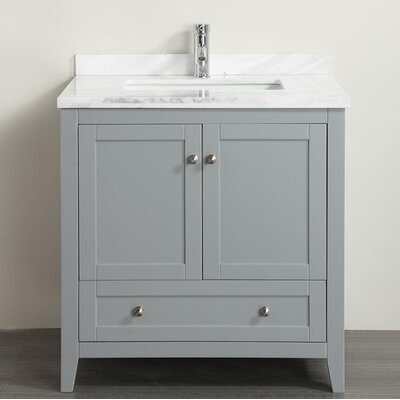 Hutcherson 36 Single Bathroom Vanity Set Base Finish: Gray