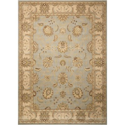 Humphries Hand-Woven Aqua/Beige Area Rug Rug Size: Rectangle 12 x 15