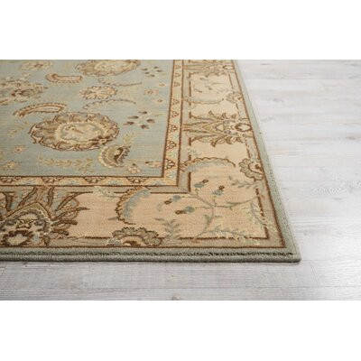 Humphries Hand-Woven Aqua/Beige Area Rug Rug Size: Rectangle 96 x 13