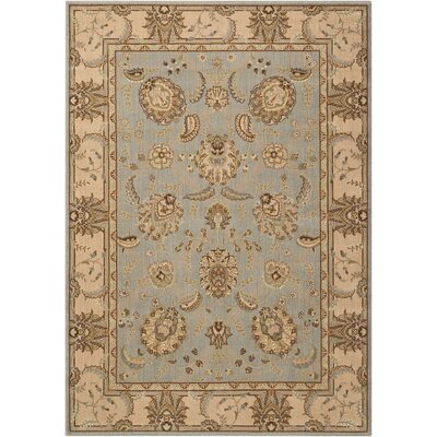 Humphries Hand-Woven Aqua/Beige Area Rug Rug Size: Rectangle 53 x 75