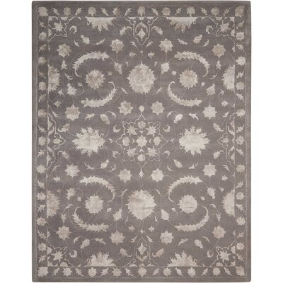 Kalona Hand-Tufted Dove Area Rug Rug Size: Rectangle 76 x 96