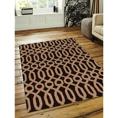 Bilbrook Hand-Tufted Wool Brown/Beige Area Rug