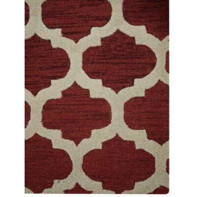 Billings Hand-Tufted Wool Red/Beige Area Rug