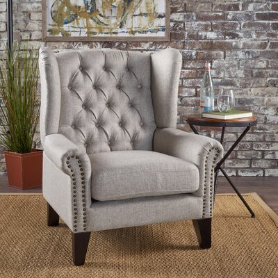 Golf Wingback Chair Upholstery: Beige