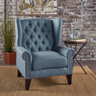 Golf Wingback Chair Upholstery: Blue