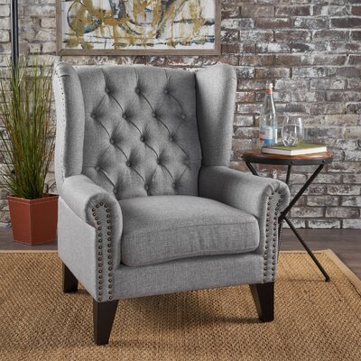 Golf Wingback Chair Upholstery: Gray