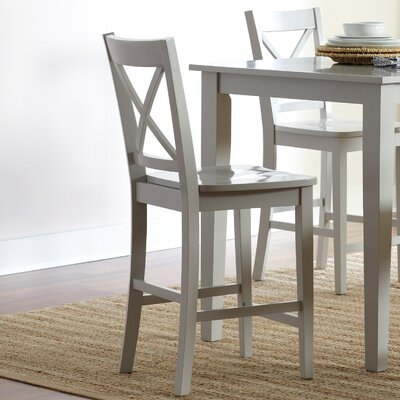 Antrim 24 Bar Stool (Set of 2) Color: Dove