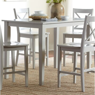 Antrim Dining Table Color: Dove, Size: 30 H x 36 W x 60 D
