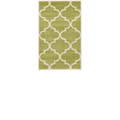 Emjay Green Area Rug Rug Size: Rectangle 33 x 53