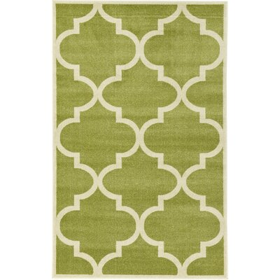 Emjay Green Area Rug Rug Size: Rectangle 5 x 8