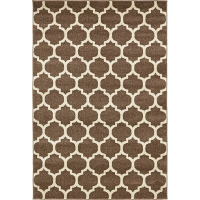 Moore Light Brown Area Rug Rug Size: Rectangle 4 x 6