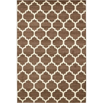 Moore Light Brown Area Rug Rug Size: Rectangle 6 x 9