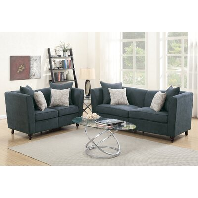 Holdren 2 Piece Living Room Set Upholstery: Slate