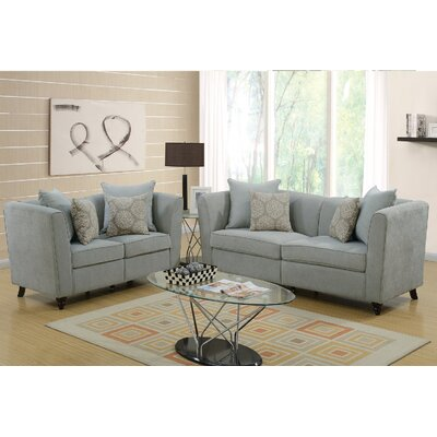 Holdren 2 Piece Living Room Set Upholstery: Taupe