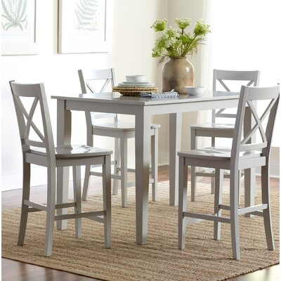 Antrim Dining Table Color: Dove, Size: 30 H x 60 W x 36 D