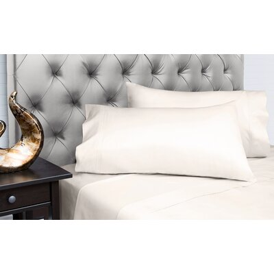 Dejuan Organic 4 Piece 200 Thread Count 100% Cotton Sheet Set Size: Full, Color: Ivory
