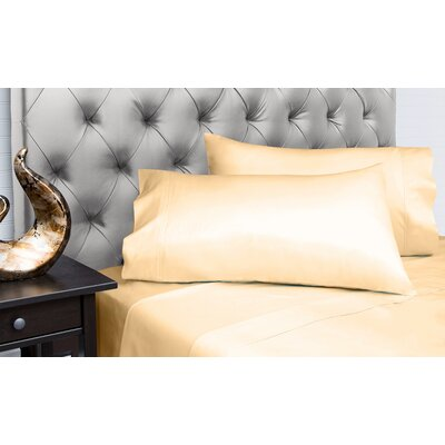 Dejuan Organic 4 Piece 200 Thread Count 100% Cotton Sheet Set Size: Queen, Color: Butter