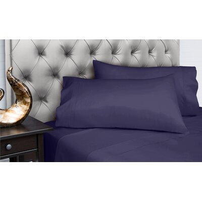 Dejuan Organic 4 Piece 200 Thread Count 100% Cotton Sheet Set Size: Queen, Color: Peacock Blue